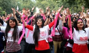 An event organized as part of the 'One Billion Rising' campaign in New Delhi on Thursday.